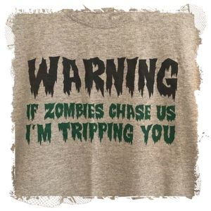 ❤️3/$30 If zombies chase us graphic t-shirt.  L